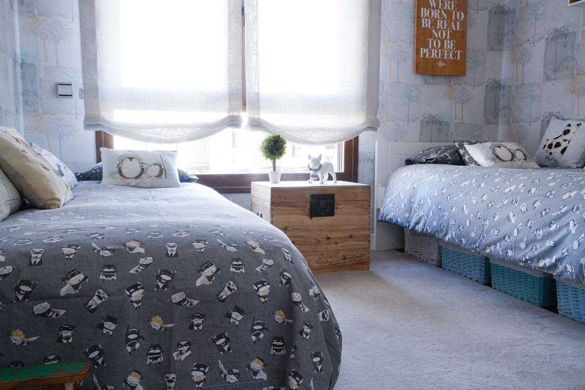 Decoración dormitorio niños colchas